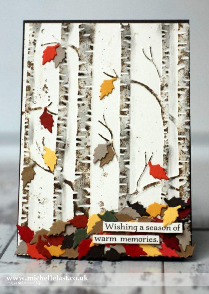 Woodland Embossing Folder Autumn