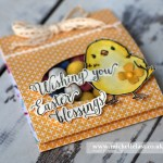 Easter Treat Pouch using Honeycomb Happiness From Stampin Up
