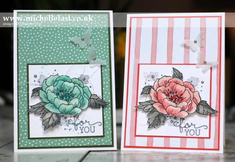 birthday blooms from Stampin Up