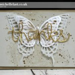 Butterfly Thinlits Thanks card for the International Blog Highlight