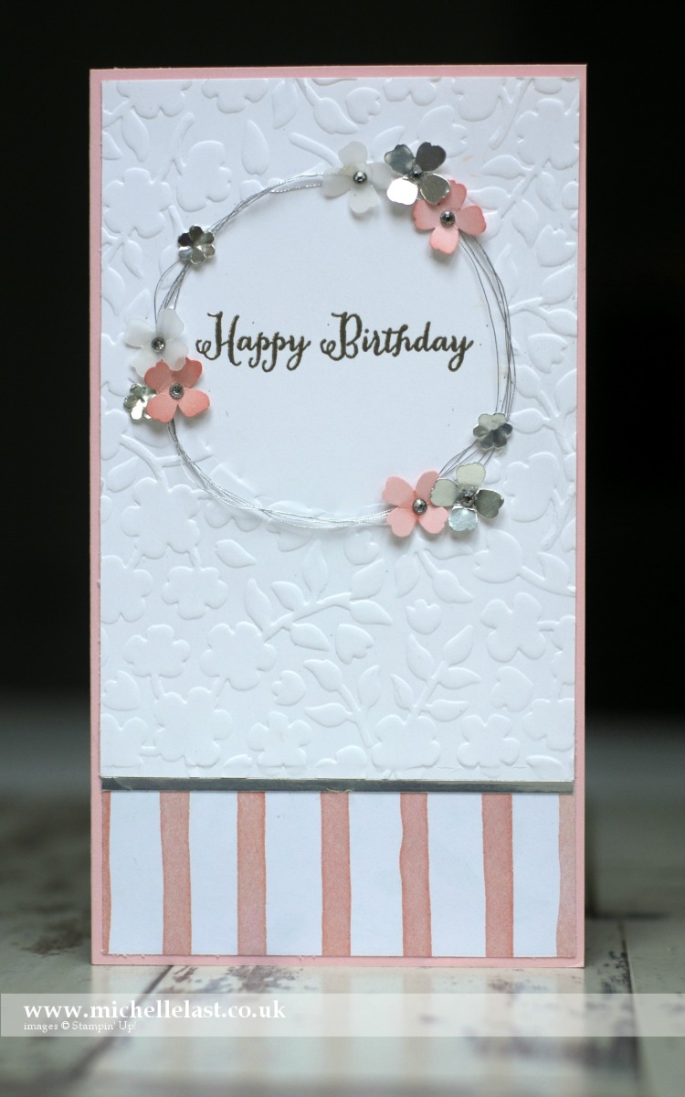 #GDP032 Flower Garland using Stampin Up products