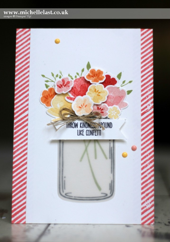 Jar of Love Confetti Card by Michelle Last - FREE tutorial
