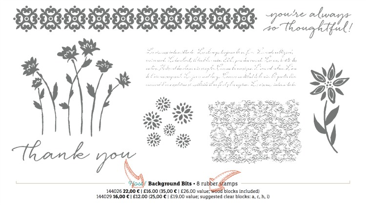 Background Bits Hostess Set from Stampin Up
