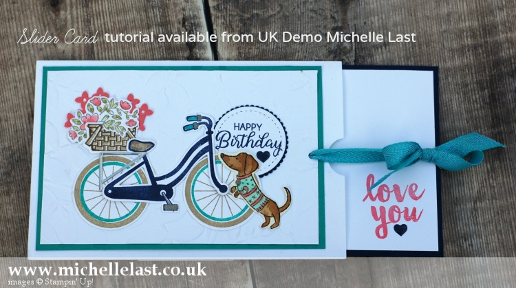 Slider Card made using Bike Ride stamp set