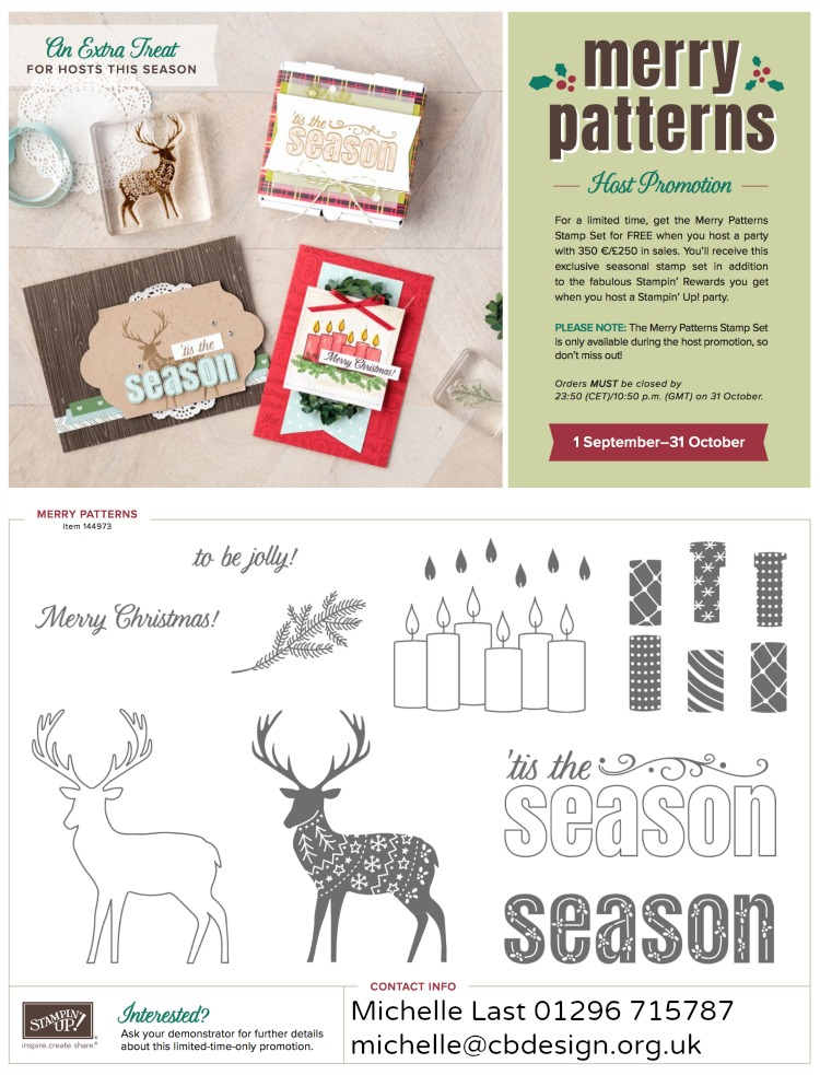 Merry Patterns exclusive FREE set with qualifying spend