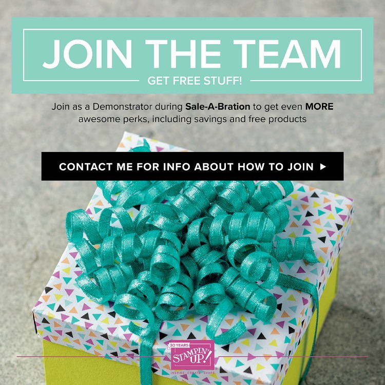 Join Stampin Up during SAB and get more free