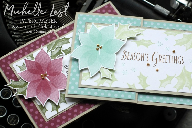 Poinsettia Christmas Cards From Stampin Up With