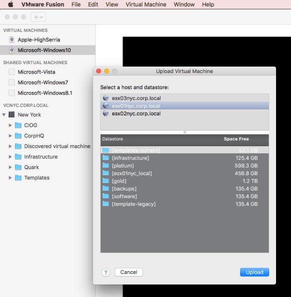 How to Import VMware Fusion VM into VMware vSphere
