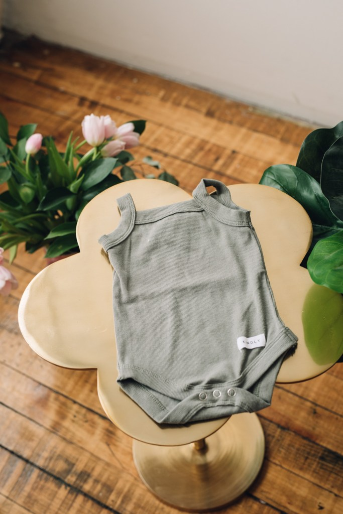 dark sage sleeveless onesie