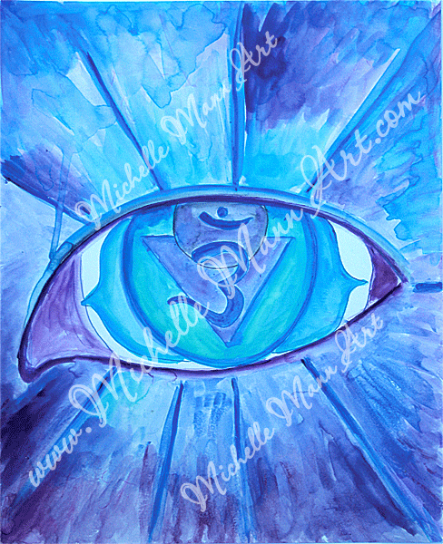 Third Eye Chakra by Michelle Mann copyright Michelle Mann 2017 all rights reserved
