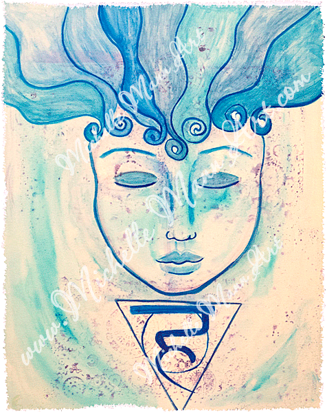 Throat Chakra by Michelle Mann copyright Michelle Mann 2017 all rights reserved