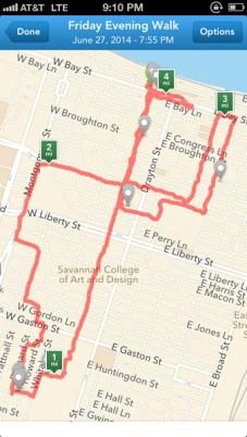 My 4-mile run around the historic district