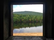 View of the lake from the picnic shelter