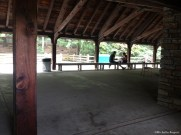Picnic shelter contains restrooms, a snack bar, and canoe rentals
