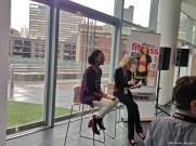 Carla Hall gave tips on cooking and eating healthier while staying true to your cultural roots and enjoying food. Moderating was Pam O'Brien, Fitness Executive Editor.