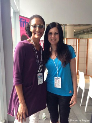 With Carla Hall, of The Chew