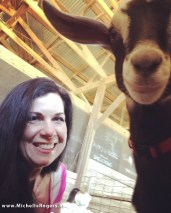 My first-ever baby goat selfie!