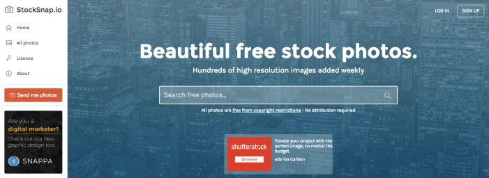 Free sources for beautiful stock images
