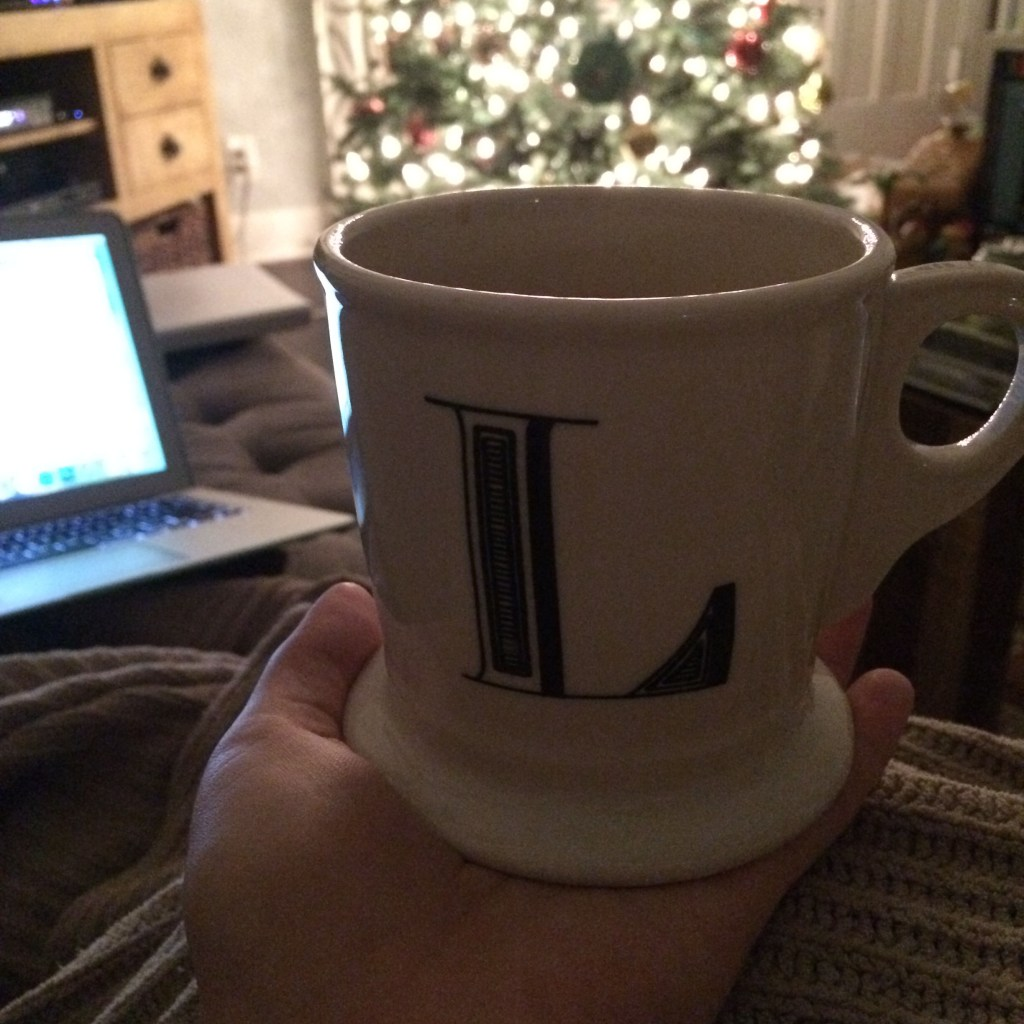 "Morning Tea in my ""L"" Mug"