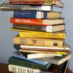 Hard books: Stack of books