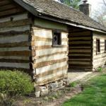 Chinked log cabin