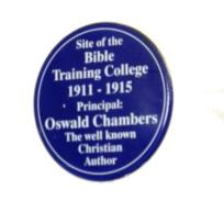 Biddy's steps, Oswald Chambers, Biddy Chambers, Bible Training College, Clapham Common, St. Paul's Cathedral, London, The Light of the World, research