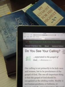 Understanding My Utmost for His Highest, Oswald Chambers, Spurgeon, daily devotional, www.michelleule, www.utmost.org, Jed Macosko