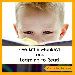 Five Little Monkeys, Eileen Christelow, Five Little Monkeys jumping on the bed, scansion, reading comprehension, rhyme, learning to read.