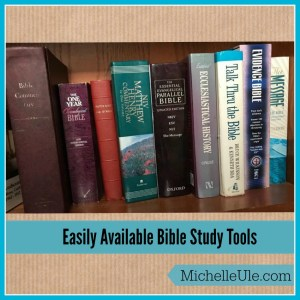 Easily Available Bible Study Tools | Michelle Ule, Author