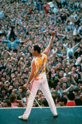 Freddie Mercury And Queen Live at Wembley, London