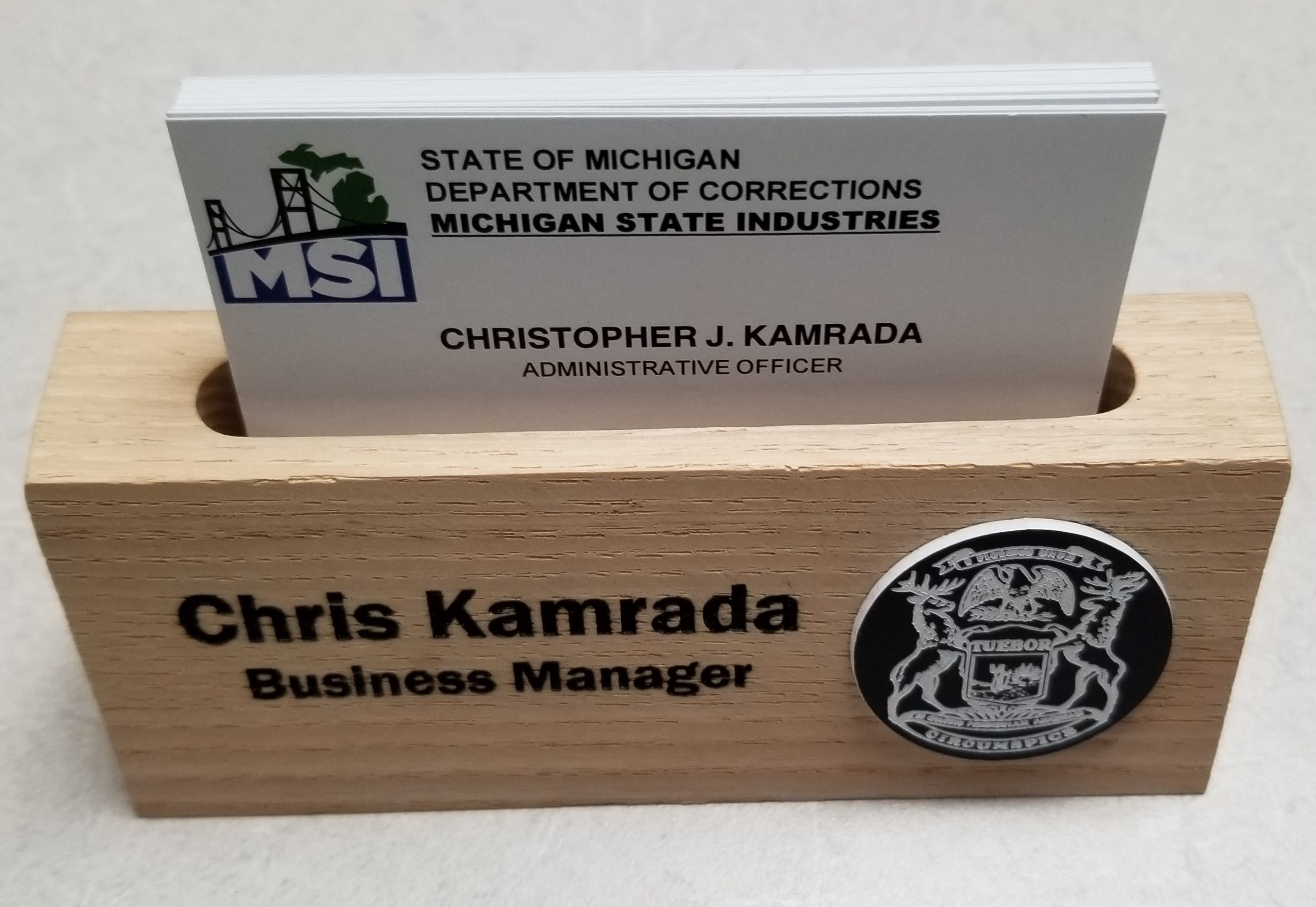 Desk Holder Business Personalized Card