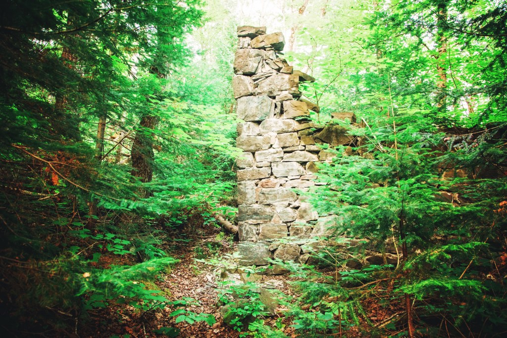 Ruins at Nonesuch in Michigan's Porkies