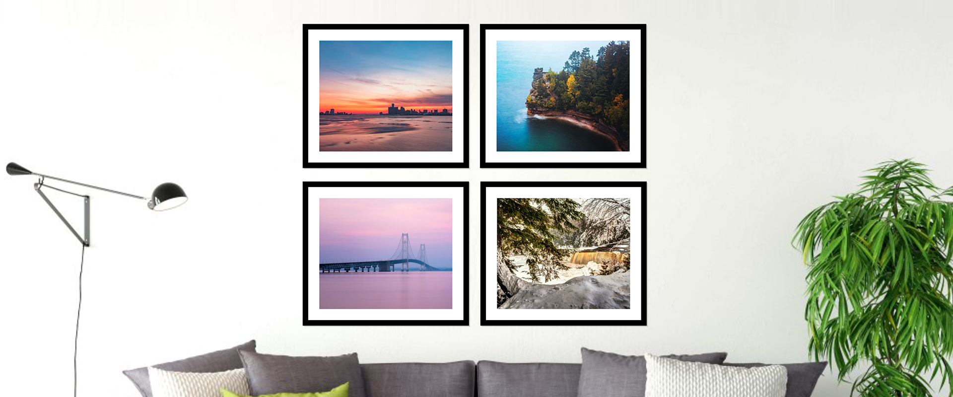 Michigan Prints, Michigan Canvases, and Michigan Metal Prints to decorate your home or office!