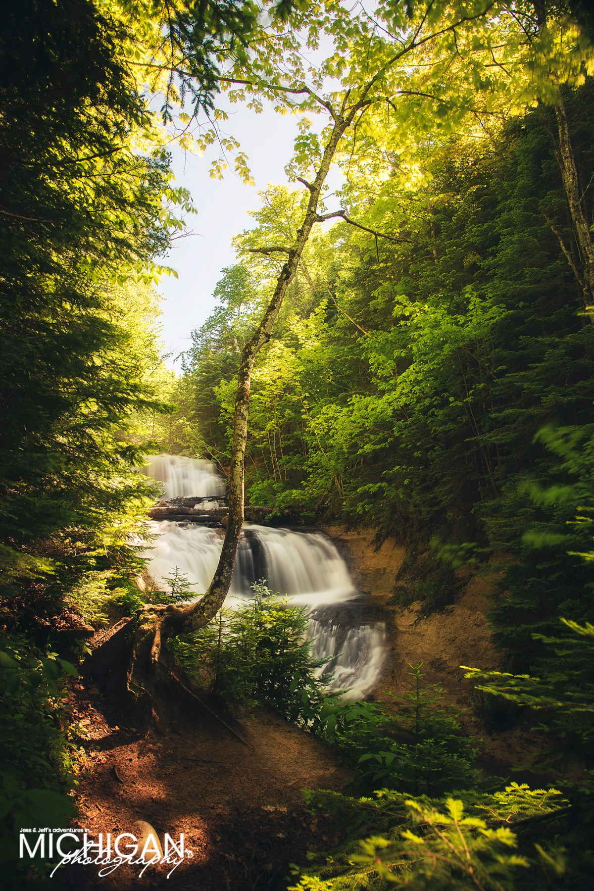 Sable Falls in the Pictured Rocks National Lakeshore near Grand Marais
