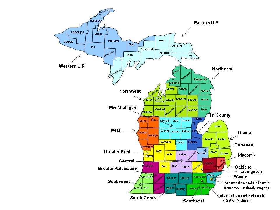 Maf Regional Office Map Michigan Alliance For Families
