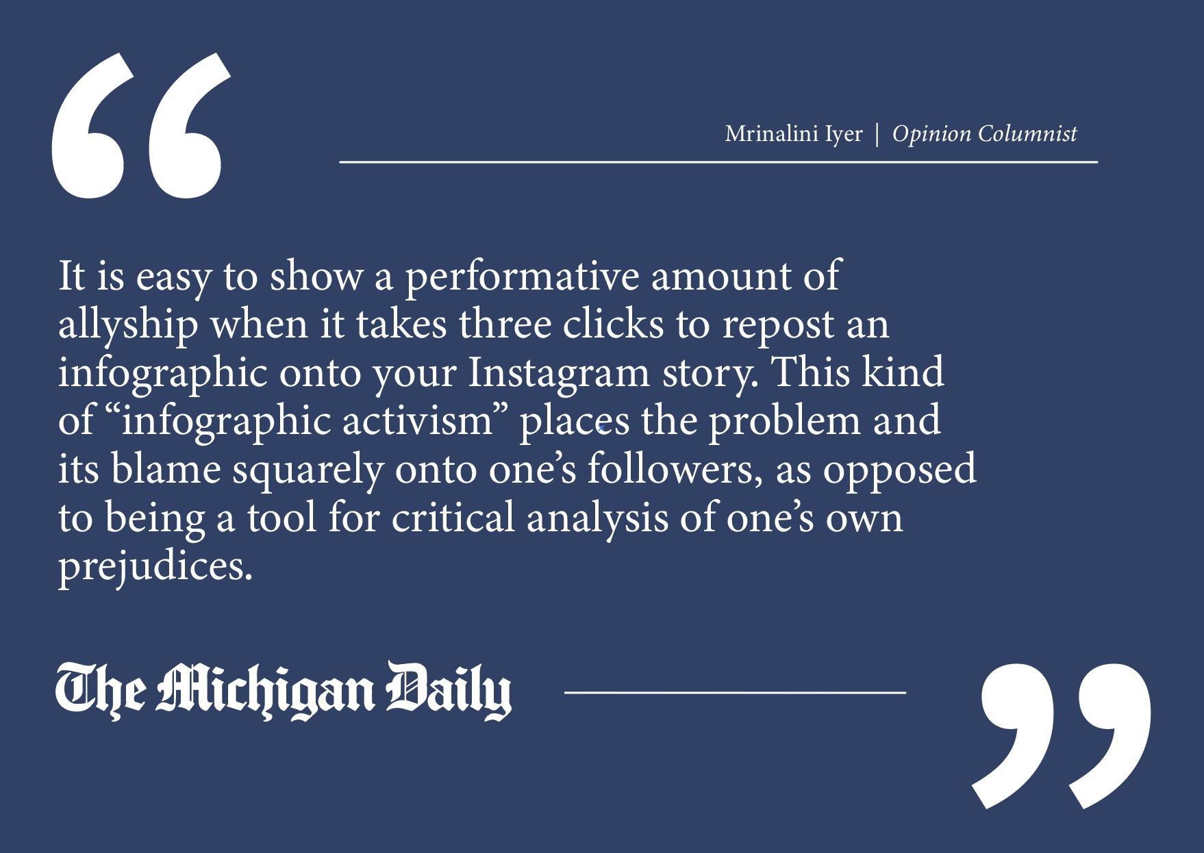 www.michigandaily.com: Make activism nuanced again
