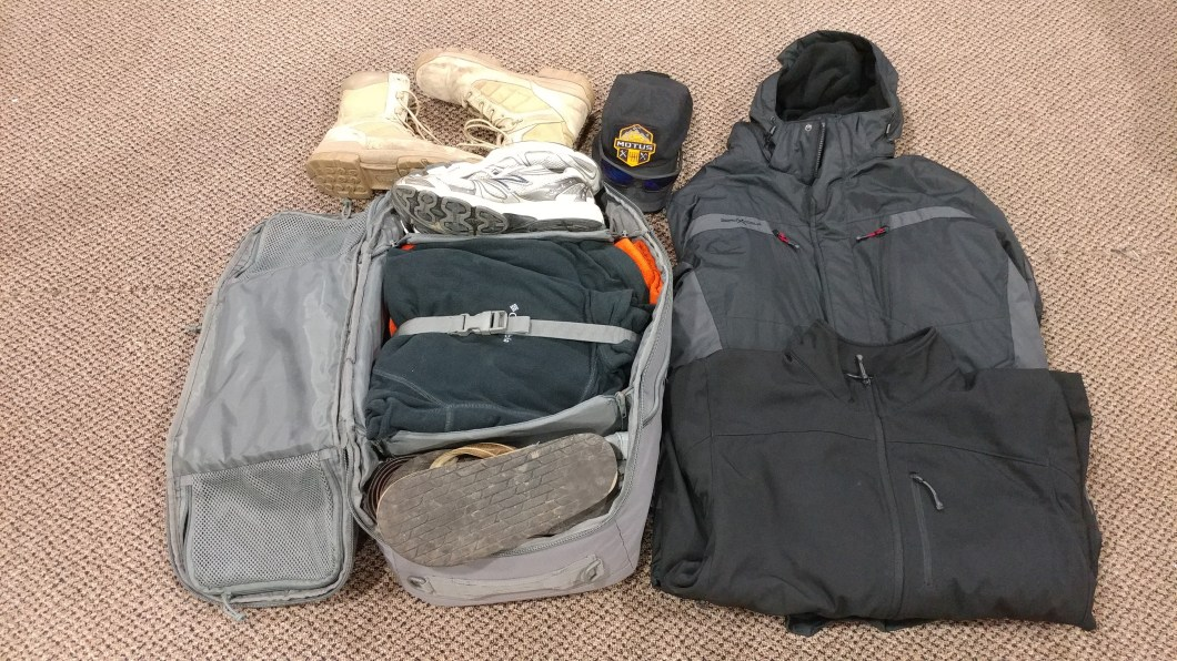packed clothing