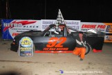 Curtis Rice won the Pro Truck feature April 18th, 2015 at Crystal Motor Speedway. (Big V / RacesOnTheWeb.com Photo)