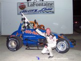 Gary Sherman won the Sprint Car feature Friday night May 1st, 2015 at Spartan Speedway. (RW Motorsports Photo)