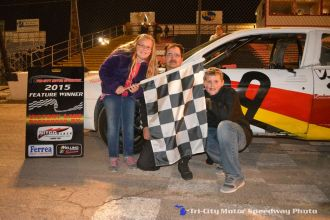Jack Freese won the bomber feature Friday May 1, 2015 at Tri-City Motor Speedway. (Courtesy of Tri-City Motor Speedway)