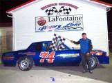 James Gokee Jr. won the Spartan Stocks B-Feature Friday night May 1st, 2015 at Spartan Speedway. (RW Motorsports Photo)