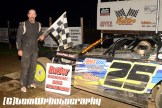 Josh Lumbaugh won the UMP Modified feature Saturday May 16, 2015 at Butler Speedway. (Tom Willavize Photo)