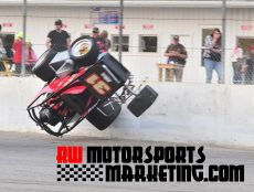 Don Hamilton goes for a wild ride Friday night at Spartan Speedway. (RW Motorsports Marketing)
