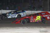 Mark Anderson (#43) racing with Aaon Morey (#2) Friday at Winston Speedway. (John Berglund Photo)