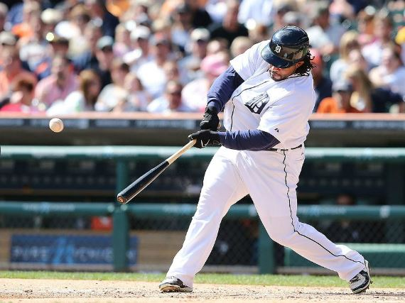 Prince Fielder connects on a solo home run in the fourth inning of the Detroit's final home game of the 2013 season. The Tigers lost to the visiting Chicago White Sox, 6-3 (Photo Courtest of the Detroit Tigers)