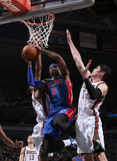 Josh Smith and the Pistons could fight their way to a third seed in the weak Eastern Conference (Photo courtesy of the Detroit Pistons)