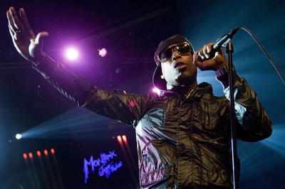 US Hip Hop singer Talib Kweli performs on the Miles Davis Hall stage at the 43nd Montreux Jazz Festival in Montreux, Switzerland, late Saturday, July 4, 2009. (AP Photo/Keystone/Jean-Christophe Bott)