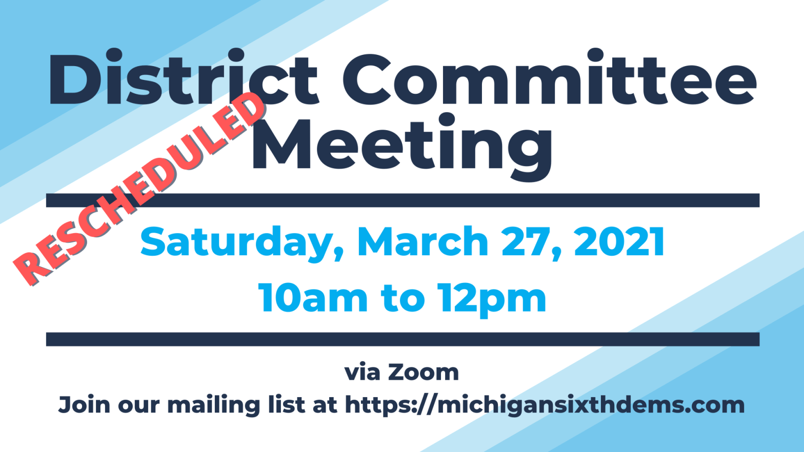 District Committee Meeting 3/27/2021