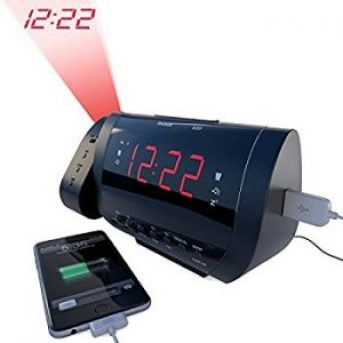 Mesqool AM FM Digital Dimmable Projection Alarm Clock