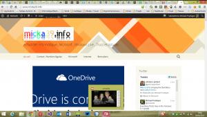 Application actualité sur un bureau Windows 8.1